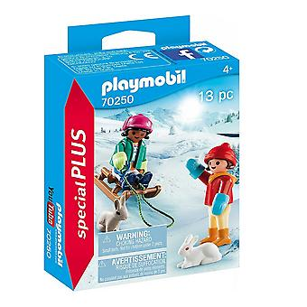 Playset Special Plus Children with Sleigh Playmobil 70250 (13 pcs)
