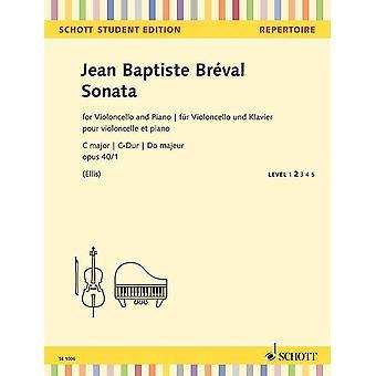 Brevel: Sonata C major op. 40/1 cello and piano SE 1006