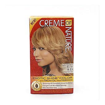 permanent farge argan farge creme av naturen lys gylden blond 9,23