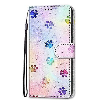 Case For Samsung Galaxy A72 4g/5g Painted Flip Cover Magnetic Closure Footprint