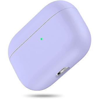 Funda dura protectora híbrida de triple capa compatible con Apple AirPods Pro (Violeta) (Violeta)