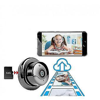 1080p Portable Small Wifi Wlan Hd Ip Surveillance Camera(Black)