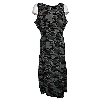 zuda Petite Dress Z-Cool Regular Printed Knit Midi Black A377789