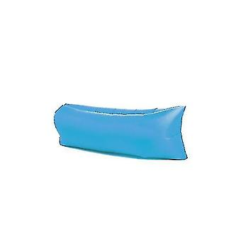 Gonflable?canapé extérieur?portable Étanche à l'eau Anti Fuite d'air Chaise longue?air?canapé?hamac Chaise(BLEU)