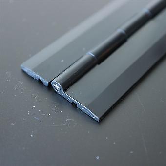 Akrylhængsel 300 mm sort, kontinuerlig akryl klaverhængsler,