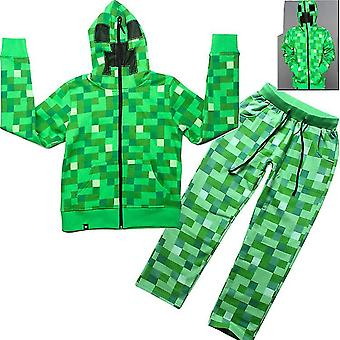 2 Piece Athletic Tricot Tracksuit Set With Zip Up Jacket And Jog Pants(140CM)
