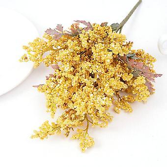 Beautiful foam artificial lavender flowers cheap wheat fake plants bouquet christmas wedding home table decoration autumn crafts