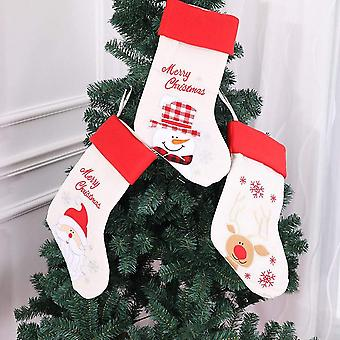 Christmas Stockings With Santa Claus Reindeer And Snowman 18 Inch Stocking