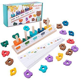 Dzieci Geometryczny kształt Pasujące drewniane zabawki Gry Zabawki Prezent|