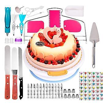 124 Stück Edelstahl-Glasurrohrdüsen, Blumencremegebäkt und Kuchendekorationswerkzeuge
