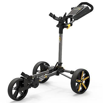 Powakaddy Unisex 2021 DLX-Lite FF Folding Large Wheels Push Cart Golf Trolley