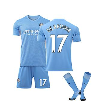 Kevin De Bruyne Jersey, Manchester City Home Jersey No. 17(adult Size)