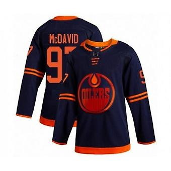 Mens Hockey Jerseys Oilers #74 Bear 99 Gretzky 97 Mcdavid Movie Ice Hockey Jersey 90s Hip Hop Clothing For Party Stitched Letters And Numbers S-xxxl