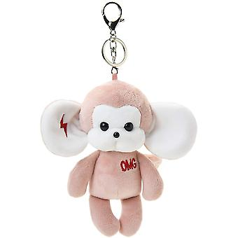 Animal Plush Keychain Cute Monkey Stuffed Toy And Interesting Backpack Doll Pendant For Kids Or Friends (lightning Monkey-pink)