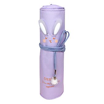 Swotgdoby Simple Rolling Pencil Case, With Cute Rabbit, Large-capacity Storage Stationery Bag