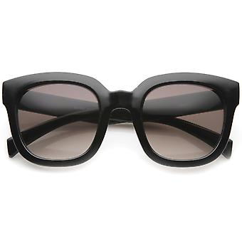 Contemporary Oversize Chunky Horn Rimmed Tinted Lens Square Sunglasses 53mm