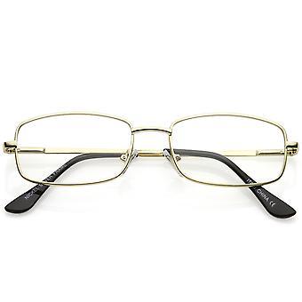 古典的な長方形の目眼鏡薄い金属クリア レンズ 50 mm