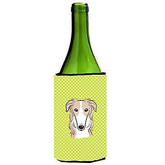 Szachownica wapno borzoj zielone butelki wina napojów izolator Hugger