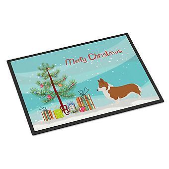 Pembroke Welsh Corgi Christmas Indoor or Outdoor Mat 24x36