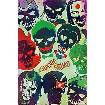 Oddziałem samobójczym - twarze plakat Poster Print