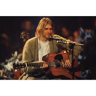 Kurt Cobain - koblet bilde plakatutskrift plakat