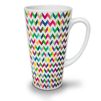 Abstrakt stilfull ny hvit te kaffe keramiske Latte krus 12 oz | Wellcoda