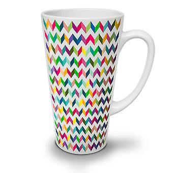 Abstract Stylish NEW White Tea Coffee Ceramic Latte Mug 12 oz | Wellcoda