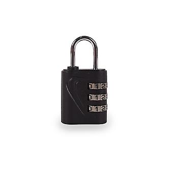 Metal 3-digit keyless combination padlock. Multiple applications: For suitcases, luggage, lockers, tools, school. Zinc Alloy and