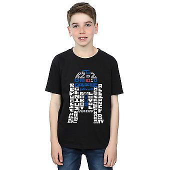 Star Wars Boys R2-D2 Text Head T-Shirt