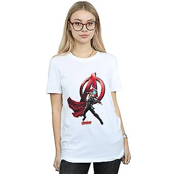 Marvel Women's Thor Pose Boyfriend Fit T-Shirt