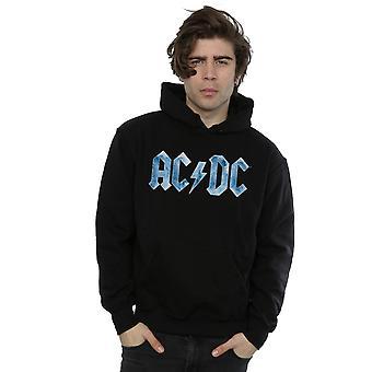 AC/DC Men's Blue Ice Logo Hoodie