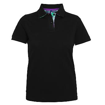 Asquith & Fox Womens/Ladies Check Trim Polo Shirt