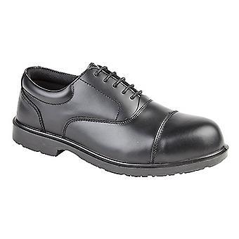 Grafters Mens Uniform volledig samengestelde Non-Metal Oxford veiligheidsschoenen