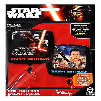 Anagramm Star Wars Episode VII Happy Birthday Square Folie Ballon