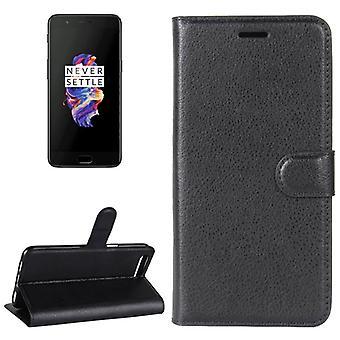 Tasche Wallet Premium Schwarz für ONEPlus 5 Schutz Hülle Case Cover Etui Neu