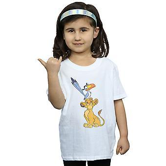 ディズニー女の子ライオン キング シンバと Zazu t シャツ