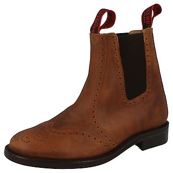 Mens Sowerby All Leather Chelsea Boot with Brogue Detail 'Cheltenham'