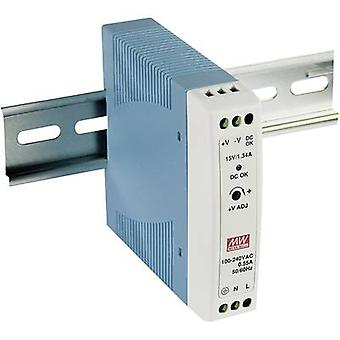 Mean Well MDR-20-24 Rail mounted PSU (DIN) 24 V DC 1 A 24 W 1 x
