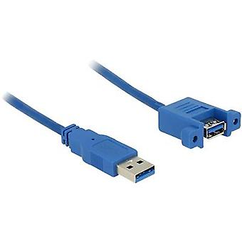 Delock USB 3.0 Cable extension [1x USB 3.0 connector A - 1x USB 3.0 port A] 1.00 m Blue
