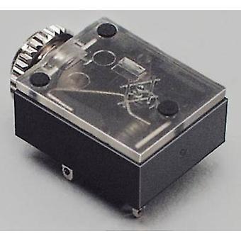 BKL électronique audio jack de 3,5 mm Socket, horizontal Mont nombre de broches: 3 stéréo noir 1 PC (s)