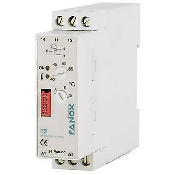 Fanox Monitoring relay 24 V DC, 24 V AC 1 change-over 1 pc(s) T2-24 VAC/DC Temperature