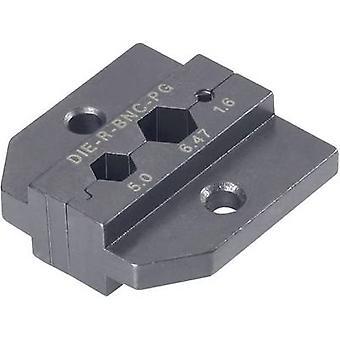 نيوتريك DIE-R-BNC-PG كريمب inset الأسود 1 جهاز كمبيوتر (ق)