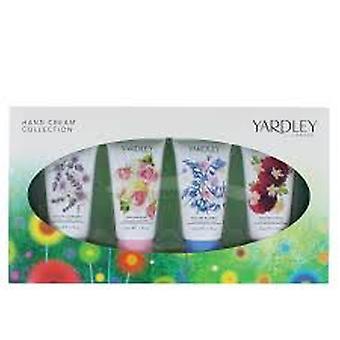 Yardley Hand Crème cadeauset 4 x 50ml - Engelse Bluebell + Engelse lavendel, English Rose + Engelse Dahlia