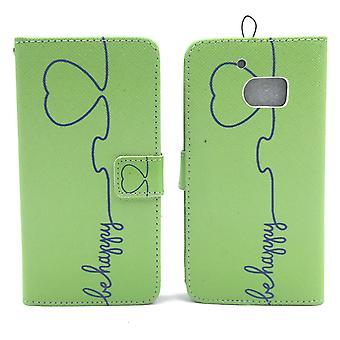 Mobiltelefon case fodral för mobil HTC 10 vara glad grön
