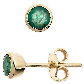 Øreringe emerald øreringe 333 guld gul guld 2 smaragder øreringe guld