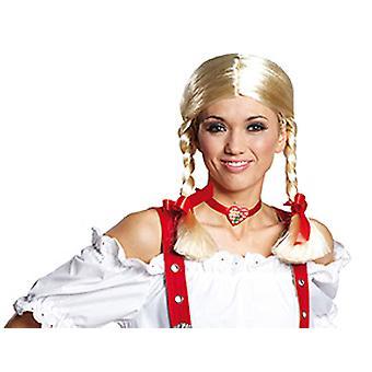 Gretchen czerwoną wstążką wig akcesoria karnawałowe Halloween