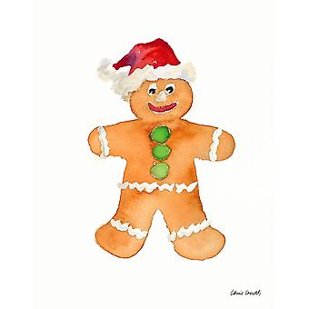 Gingerbread Man I Poster Print by Lanie Loreth