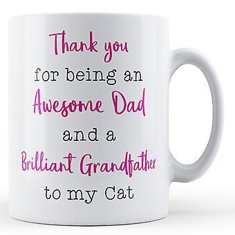 Gracias por ser un Papá increíble y un abuelo genial a mi gato - taza impresa