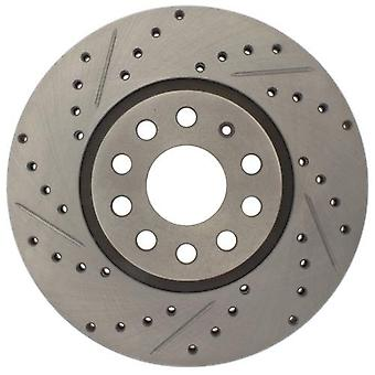 StopTech 227.33098R Select Sport Drilled and Slotted Brake Rotor; Front Right