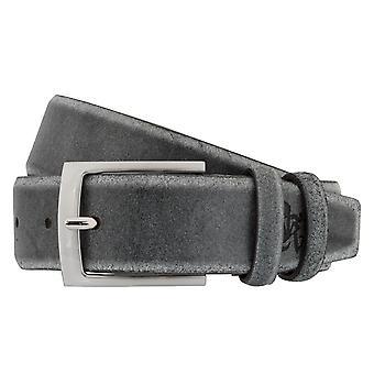 OTTO KERN belts men's belts leather belt grey 7478
